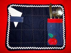 Jogo Americano-Piquenique -Azul Marinho