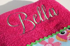Personalized Owl Bath Towel Child or Adult by flyinshirer on Etsy, $25.00