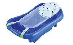 TODDLER BATH: Toddlers are supported on the upright side of the tub with plenty of room to play. GROWING BABY BATH: Deep ergonomic tub design with pad to help hold growing baby better while bathing. Baby Bath Seat, Bath Seats, Newborn Bath Tub, Baby Newborn, Baby Bath Tubs, Baby Registry Must Haves, Baby List, Baby Center, Deep