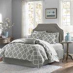 Colonial Textiles Azlin 8 Piece Comforter Set in Lavender & Ivory & Reviews | Wayfair