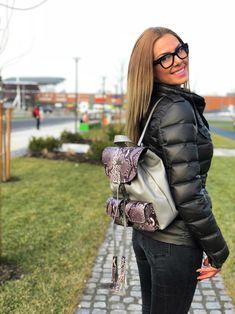 Leather snake backpack Leather Bag, Snake, Winter Jackets, Backpacks, Bags, Fashion, Winter Coats, Handbags, Moda