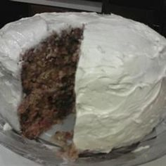 This cake is simply great with the odd ingredient of beets.  It goes in the oven pink and comes out a nice rich beige color. It's a great way to use up those extra beets you have from your garden.  I often ice it with a cream cheese icing.