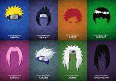 Naruto » Fanart | Naruto Minimal Series | #naruto #sasuke #gaara #lee #sakura #kakashi #jiraiya #orochimaru