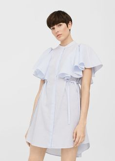 Discover the latest trends in Mango fashion, footwear and accessories. Shop the best outfits for this season at our online store. Chemise Dress, Ruffle Dress, Ruffles, Mom Outfits, Chic Outfits, High Street Trends, Cocoon Dress, Mango Fashion, Women's Fashion