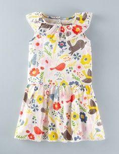 Multi Field Friends Summer Ruffle Dress Boden