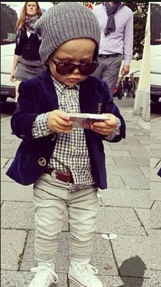 I swear I can't wait to have a son and dress him all adorable like this.:')