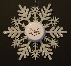 Just Me!: Snowman Face Ornaments