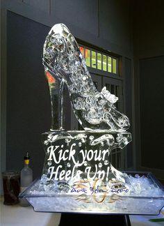 Stilletto Shoe Ice Luge Ice Sculpture by Art Below Zero, via Flickr