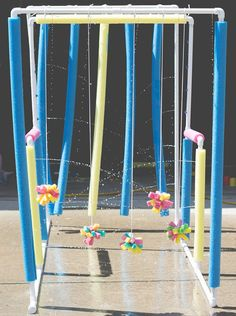 See how this PE teacher made a Car Wash for her students as a Field Day activity!