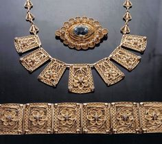 The Phoenicians were know for trading gold and silver throughout the Mediterranean and also traveled to India dating back as far as 1000 BC.   They also spread their filigree designs and techniques. Many settled in southern Italy, integrating with the Etruscans; a civilization of the 7th century B.C. dedicated to the arts.