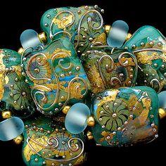 DSG Beads Handmade Organic Lampwork Glass Made To by debbiesanders,