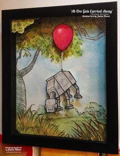 Wookie The Chew Shadow Box - 'At-Ore Gets Carried Away'