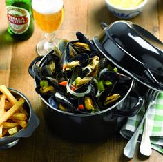 Belgian Mussels steamed in White Wine