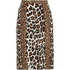 Burberry Prorsum Animal-print calf hair pencil skirt (16.539.205 IDR) ❤ liked on Polyvore featuring skirts, burberry, animal print, leopard print, zipper pencil skirt, knee length skirts, knee length pencil skirt, leopard skirt and animal print skirt