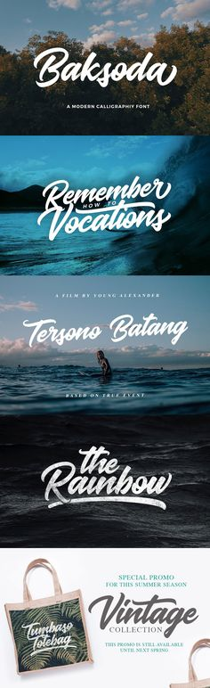 #Freebies : Baksoda is a #handlettering script #font with a clear style and dramatic movement this font is great for your next #creative project such as #logos, #printed #quotes, invitations, cards, product #packaging, headers, Logotype, Letterhead, Poster, #Apparel Design, Label, and etc.