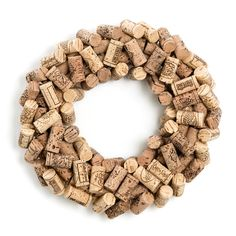 Wine Cork Wreath//