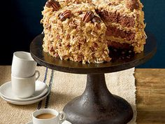 Mama's German Chocolate Cake | Bake a cake that would make mama proud. German chocolate cakes are known for being rich, indulgent cakes, so enjoy a slice with a glass of milk.