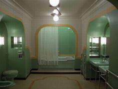 "Green Art Deco bathroom from ""The Shining""!"