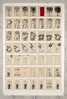 Sighs and Traces! I've been into drawing on pages lately.     GOODMAN GALLERY : exhibitions | show