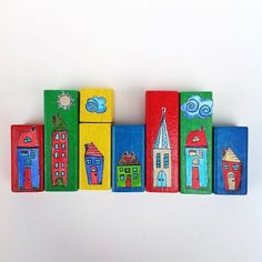 Tiny Town Blocks, How to Recycle Kids Toys.