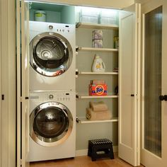 Door To Hide Washer And Dryer Design Ideas, Pictures, Remodel, and Decor - page 9