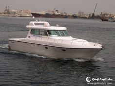 Cool Cabin Cruiser!...Profile shot of the #Silvercraft 40, formerly known as #Walkaround 40. Click on silver-craft.com to view more about this model.