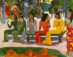 Ta Matete. Paul Gauguin. Have a print of this one.
