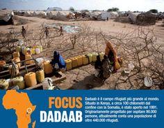 Dadaab è il campo rifugiati più grande del mondo. Si trova in Kenya e ospita 440.000 rifugiati.  www.unhcr.it