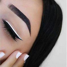 eyeliner, make up, and makeup image