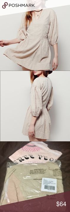 ✨👗FREE PEOPLE Loretta Mini Dress 😍 XS NWOT This mini dress is so adorable! I bought this cutie in 2 sizes, xs and small, bought them in original price! I will also list the Small size! Don't miss out on this one! 😁😁🛍🛍 NEVER WORN! Just hanging in my closet! Free People Dresses Mini