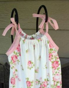 vintage pillowcase dress for little girl