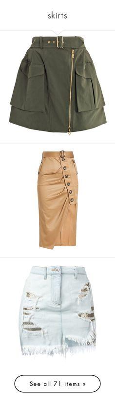 """skirts"" by millionmafia ❤ liked on Polyvore featuring skirts, mini skirts, bottoms, saias, faldas, high waisted mini skirt, mini skirt, high waisted a line skirt, short skirts and a line mini skirt"