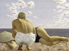 Couple on the Beach. Alex Colville