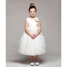 Crayon Kids Girls 78 Ivory Tulle Tiered Flower Girl Easter Dress >>> You can find more details by visiting the image link.