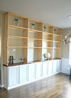 Best Way to Install Built-in Shelves Some day I will do this (or have someone do this)