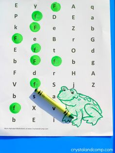 letter of the week f is for frog do a dot