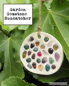 Do you need some year-round colour in your garden? Why not make this super simple Gemstone Suncatcher, just click through to Craftyism.com to find out how. | DIY | Clay Craft | How-to |