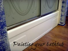 How to Refinish and Paint a Bathtub With Epoxy Paint - Is there a special bathtub paint? Painting a bathtub is not difficult; a report from someone that d - Bathtub, Bathroom Redo, Painting Bathtub, Remodeling Mobile Homes, Bathrooms Remodel, Bathroom Makeover, Painting Bathroom, Homeowners Guide, Epoxy Paint