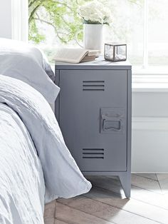 NEW Two Grey Wooden Bedside Tables - NEW THIS SEASON - Indoor Living