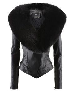 Black Leather Jacket Cross Renard