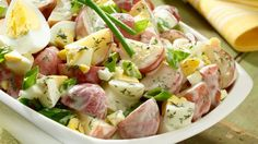 Wish-Bone® Creamy Ranch Potato Salad Ranch Potato Salad, Potato Salad Dill, Potato Salad Mustard, Potato Salad Dressing, Ranch Potatoes, Potato Salad With Egg, Healthy Recipes, Veggie Recipes, Salad Recipes