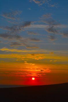 Amazing Sunset in Ica, Peru