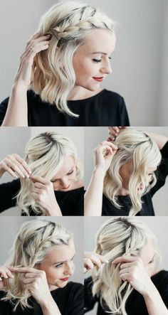 Abendfrisuren selber machen – 18 Tipps und Tricks für effektvollen Look Medium Hair Braids, Medium Hair Styles, Curly Hair Styles, Box Braids, French Twist Hair, French Braid, French Style, Twist Hairstyles, Cool Hairstyles