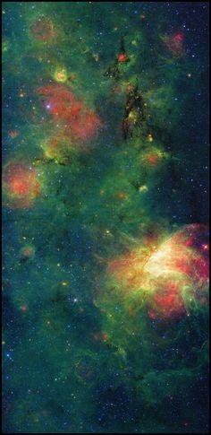 M17 Nebula – Spitzer Telescope - | http://exploringuniversecollections.blogspot.com