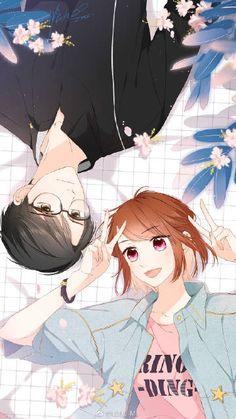 Love Like Cherry Blossoms- Xu Ye and Dai Dai Anime Cupples, Chica Anime Manga, Anime Guys, Love Cartoon Couple, Anime Love Couple, Couple Pics, Anime Couples Drawings, Anime Couples Manga, Couple Drawings