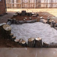 "Gorgeous area - digging pit using different sands, rocks & logs from Elite Childcare Solutions & Elite Family Day Care ("",)"