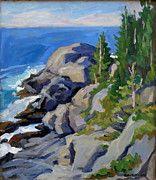 Monhegan Island Paintings - Gull Rock Monhegan by Thor Wickstrom