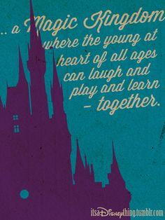 The Magic Kingdom. Walt Disney World. Disney Family Quotes, Walt Disney Quotes, Disney And More, Disney Love, Disney Colors, Disney Stuff, Disney Vacations, Disney Trips, Disney Travel