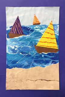 Check out student artwork posted to Artsonia from the Seascapes with Foreground, Middleground, Background, and Horizon Line project gallery at Wegienka Elementary School.