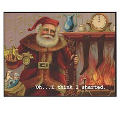 Santa Sharted Magnet  Long night, lots of milk and cookies….it was inevitable. #christmas #gift #funny